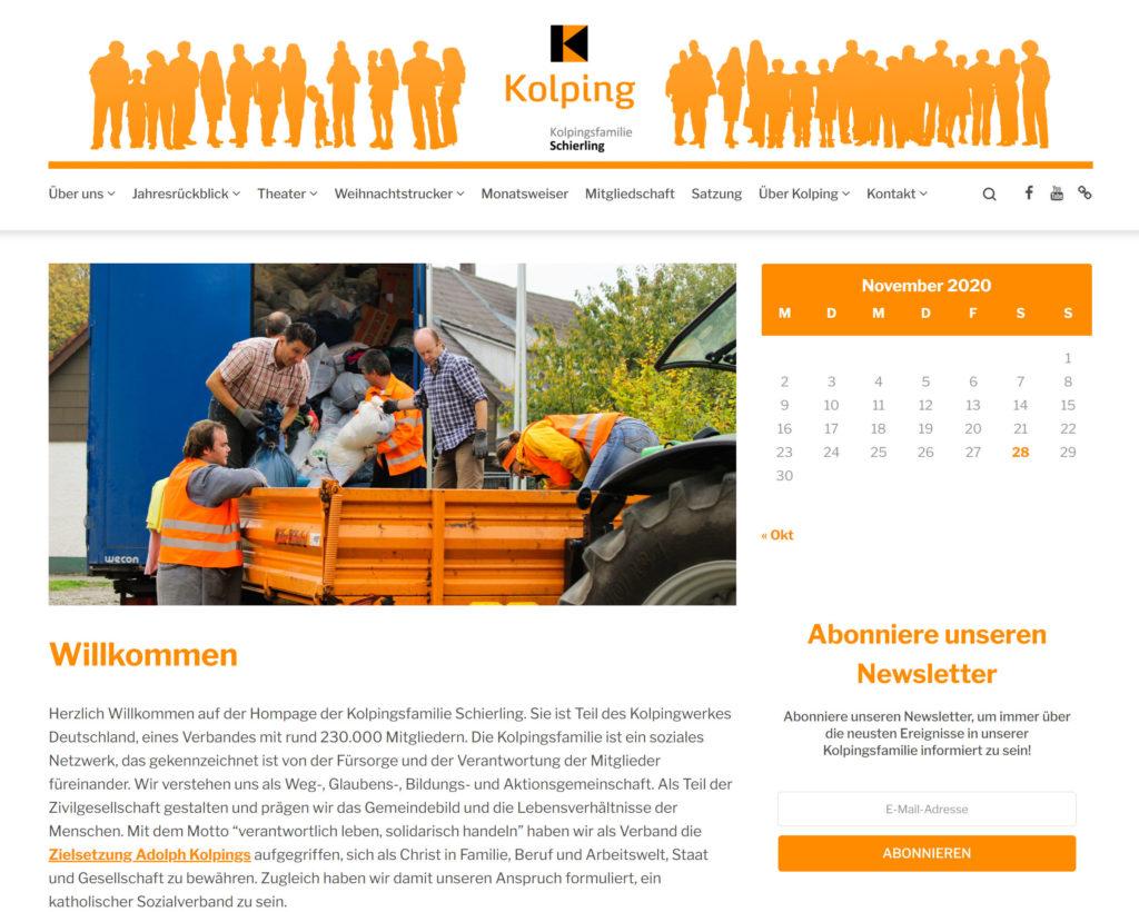 Herzlich Willkommen auf der neuen Homepage der Kolpingsfamilie Schierling